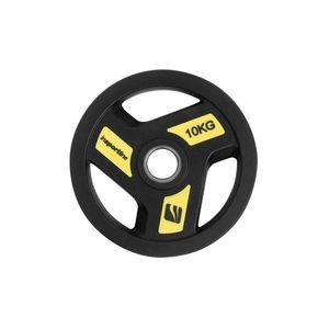 Olimpiai gumis súlyzótárcsa inSPORTline Herk 10 kg kép