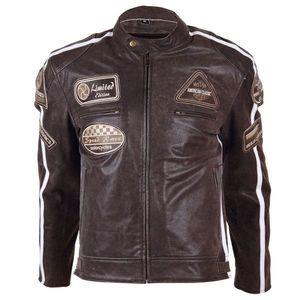 Bőr motoros kabát BOS 2058 barna kép