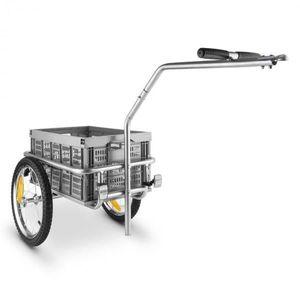 DURAMAXX Bigbig Box bicikli utánfutó, kézi kocsi, 40 l, 40 kg, szürke kép