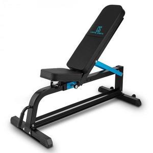 Capital Sports Ad Just, fekete, 300 kg, pad súlyzókra, állítható egyenes pad, acél kép