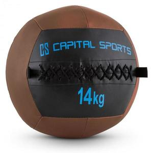 Capital Sports Wallba 14, 14kg, barna, Wall Ball (medicinlabda) műbőr kép