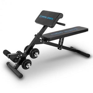 Capital Sports Sit'n Curl, Sit Up pad súlyzókészlettel kép