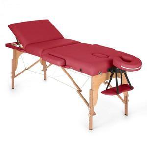 Klarfit MT 500 masszázságy, 210 cm, 200 kg, összecsukható, finom felület, táska, piros kép