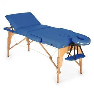 Klarfit MT 500 masszázságy, 210 cm, 200 kg, összecsukható, finom felület, táska, kék kép