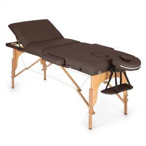 Klarfit MT 500 masszázságy, 210 cm, 200 kg, összecsukható, finom felület, táska, barna kép
