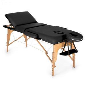 KLARFIT MT 500 masszázságy, 210 cm, 200 kg, összecsukható, finom felület, táska, fekete kép