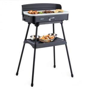 OneConcept Porterhouse, elektromos grillsütő, asztali grillsütő, 2200 W, kerámiaréteg kép