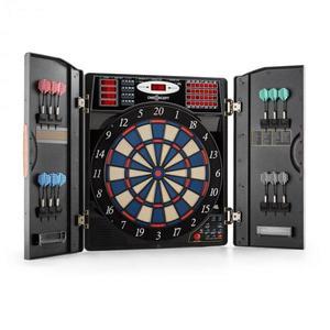 OneConcept Masterdarter elektromos darts céltábla, puha hegyek, fa hatás kép
