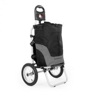 DURAMAXX Carry Grey, biciklis kocsi, kézikocsi, max. teherbírás 20 kg, fekete-szürke kép