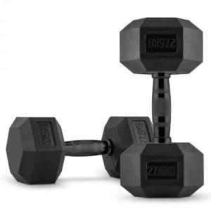 Capital Sports Hexbell, egykezes súlyzó pár, 2 x 27.5 kg, fekete kép