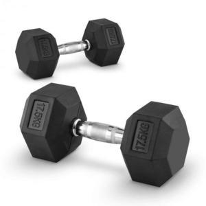 Capital Sports Hexbell 17, 5, 17, 5kg, két kézi súlyzó (dumbbell) kép