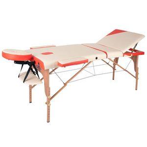 Fa masszázs asztal inSPORTline Japane - 3 részes kép