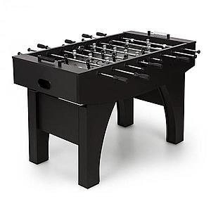 KLARFIT Anfield asztali foci, csocsó asztal, fém rudak, golyós csapágy, fekete kép