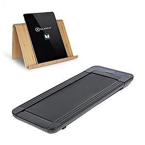 KLARFIT Workspace GoLight, futópad, tablet tartó, 350 W, 0.8 - 6 km/óra, fekete kép