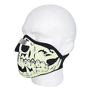 Védőmaszk Oxford Glow Skull kép