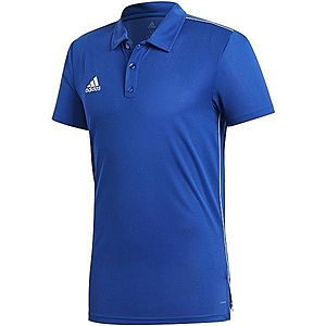 adidas CORE18 POLO kék M - Férfi galléros póló kép