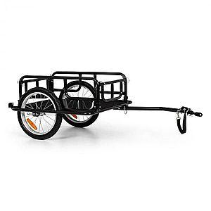 "KLARFIT OX, utánfutó, 40 kg/65 l, bicikli utánfutó, 16"" x 1, 75"" gumik, fekete kép"