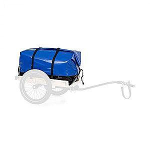KLARFIT Companion Travel Bag, szállítótáska, 120 literes, vízálló, roll-top, PU, kék kép