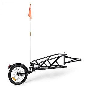 """KLARFIT Follower, bicikli utánfutó, 16"""" kerék, egykerekű, 35 kg rakománnyal terhelhető, fekete kép"""