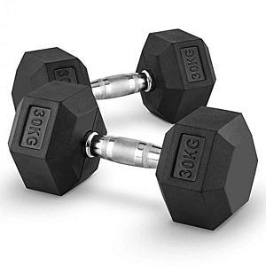 Capital Sports Hexbell 30 Dumbbell, egykezes súlyzó pár, 30 kg kép