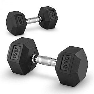 Capital Sports Hexbell 20 Dumbbell, egykezes súlyzó pár, 20 kg kép