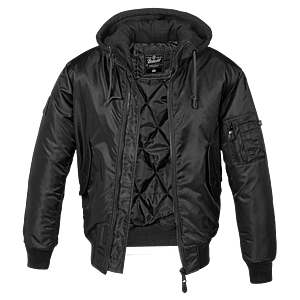Brandit MA1 Hooded bomberdzseki, fekete kép