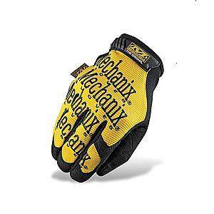 Mechanix Original sárga taktikai kesztyű fekete felirattal kép