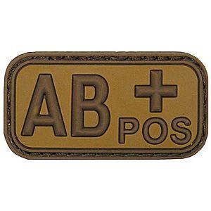 MFH vércsoport tapasz 3D, AB pozitív khaki 5x2, 5cm kép