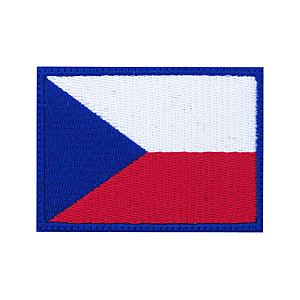 Felvarró Csehország zászlaja, 7x5cm kép