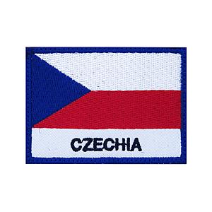 Felvarró Csehország záslaja, 7x5cm kép