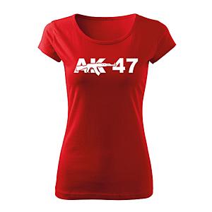 WARAGOD női rövid ujjú trikó ak47, piros 150g/m2 kép