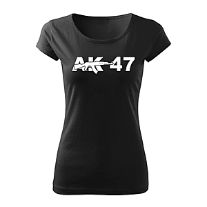 WARAGOD női rövid ujjú trikó ak47r, fekete 150g/m2 kép