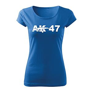 WARAGOD női rövid ujjú trikó ak47, kék 150g/m2 kép