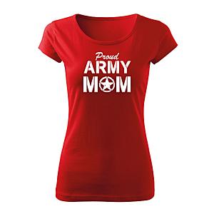 WARAGOD női rövid ujjú trikó army mom, piros 150g/m2 kép