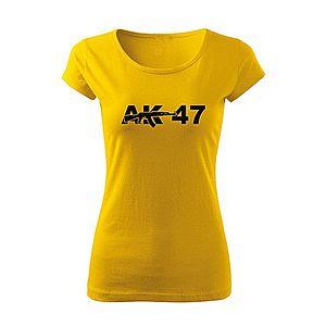 WARAGOD női póló ak47, sárga 150g/m2 kép