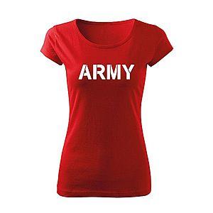 WARAGOD női póló army, piros 150g/m2 kép