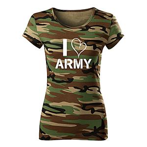 WARAGOD női póló i love army, terepmintás 150g/m2 kép