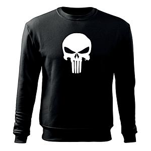 WARAGOD férfi pulóver punisher, fekete 300g/m2 kép