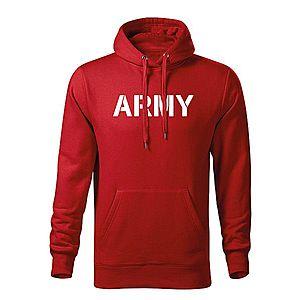 WARAGOD kapucnis férfi pulóver army, piros 320g / m2 kép