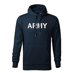WARAGOD kapucnis férfi pulóver army, sötétkék 320g / m2 kép