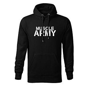 WARAGOD kapucnis férfi pulóver muscle army, fekete 320g / m2 kép