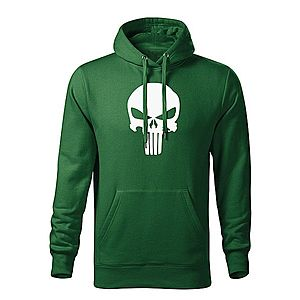 WARAGOD kapucnis férfi pulóver punisher, zöld 320g / m2 kép