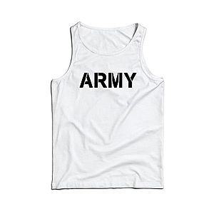 Waragod férfi ujjatlan trikó ARMY, fehér 160g/m2 kép