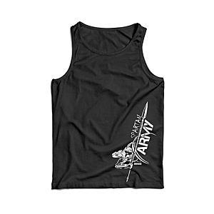 Waragod férfi ujjatlan trikó Myles, fekete 160g/m2 kép