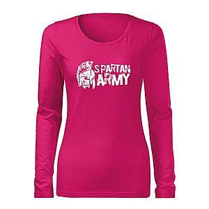 WARAGOD Slim női hosszú ujjú póló Aristón, rózsaszín 160g/m2 kép
