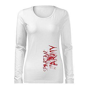 WARAGOD Slim női hosszú ujjú póló War, fehér 160g/m2 kép