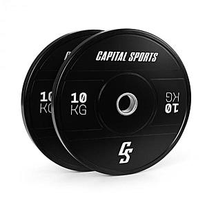 Capital Sports Elongate 2020, tárcsák, 2 x 10 kg, keményített gumi, 50, 4 mm kép