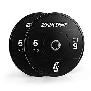 Capital Sports Elongate 2020, tárcsák, 2 x 5 kg, keményített gumi, 50, 4 mm kép