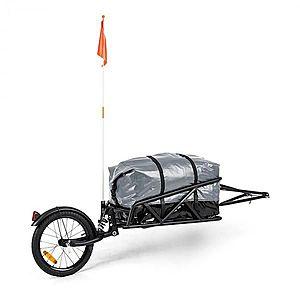 """KLARFIT Follower, kerékpár utánfutó készlet, 16 """"kerék, teherbírás 35 kg, 120 l szállítózsák kép"""