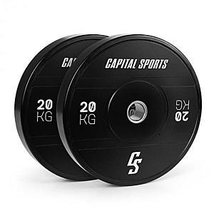 Capital Sports Elongate 2020, tárcsák, 2 x 20 kg, kemény gumi, 50, 4 mm kép